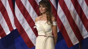 Melania Trump lors de l'investiture de son mari, Donald Trump, à Washington, le 20 janvier 2017.