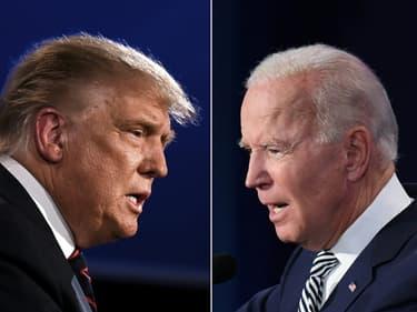 Donald Trump (à gauche) et Joe Biden.