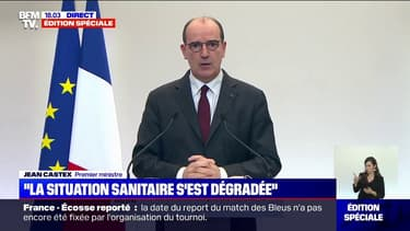 """Jean Castex salue """"une réussite collective"""" face une """"stabilisation de l'épidémie"""""""