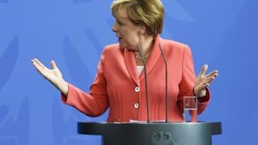 La chancelière allemande Angela Merkel à Berlin, le 24 août 2015