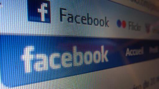 Ecran d'accueil de Facebook