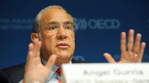 Pour l'Organisation, dirigée par Angel Gurria, le ralentissement de la croissance mondiale devrait se poursuivre.
