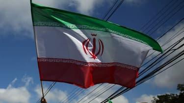 Un drapeau iranien - Image d'illustration