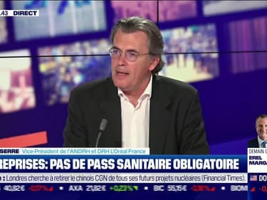 Benoît Serre (ANDRH) : Entreprises, pas de pass sanitaire obligatoire - 26/07