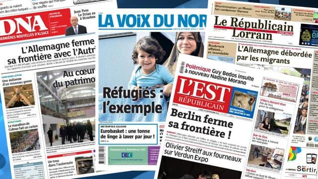 La volte-face de l'Allemagne sur les réfugiés fait la une de la presse.