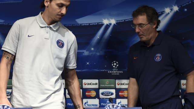 Zlatan Ibrahimovic et Laurent Blanc