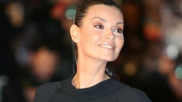 Ingrid Chauvin sur les marches du Palais des Festivals de Cannes en 2008.