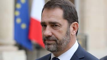 Christophe Castaner sur le parvis de l'Élysée, le 20 novembre 2017
