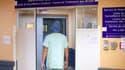 L'entrée du service de réanimation à l'hôpital Les Abymes de Pointe-à-Pitre, en Guadeloupe