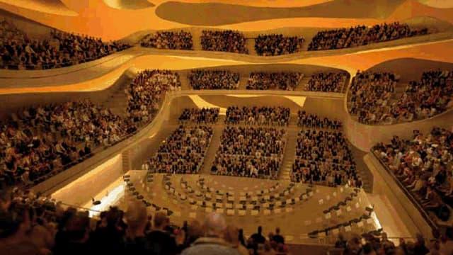 La nouvelle salle de concert parisienne (ici en maquette) offrira 2.400 places aux mélomanes