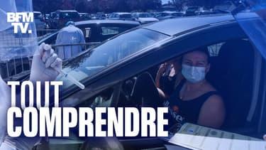 Des dépistages du coronavirus à Laval (Mayenne), le 9 juillet 2020.