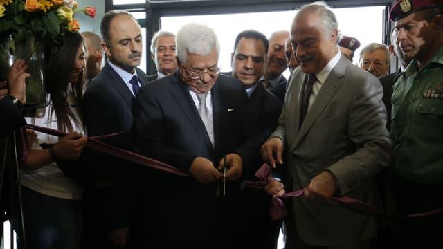 Le président Mahmoud Abbas lors de l'inauguration du musée palestinien, le 18 mai 2016.