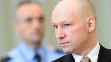Anders Behring Breivik, le 15 mars 2016 à Skien en Norvège
