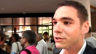 Le candidat du Front national, Etienne Bousquet-Cassagne, au soir du premier tour dimanche.