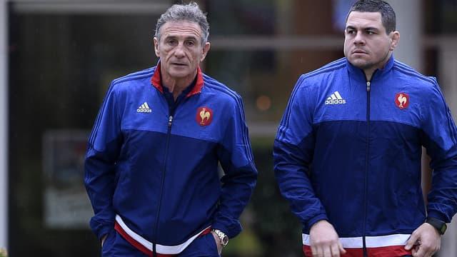 Guy Novès et Guilhem Guirado (XV de France)