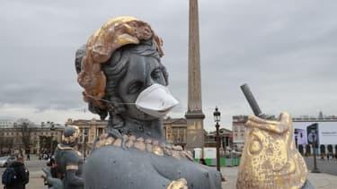 Une statue place de la Concorde