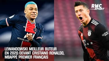 Lewandowski meilleur buteur en 2020 devant Cristiano Ronaldo, Mbappé premier Français