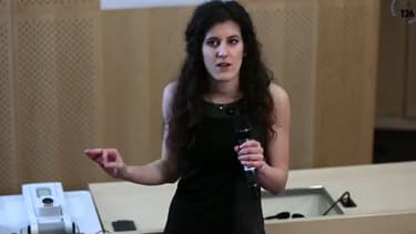 """Marie-Charlotte Morin, première au concours """"Ma thèse en 180 secondes"""" du CNRS."""