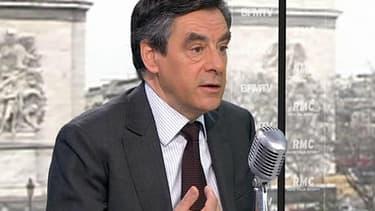 L'ancien Premier ministre, François Fillon, ce mercredi matin sur RMC et BFMTV