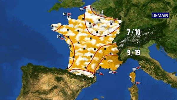 Les prévisions météo du mardi 25 mai 2021.