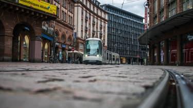 Tram à Strasbourg.