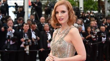 Jessica Chastain à Cannes en mai 2016