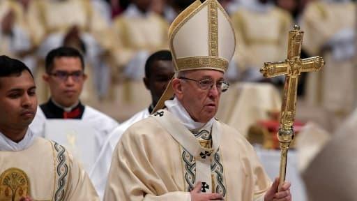 Le pape François le 6 janvier 2018, lors de l'épiphanie
