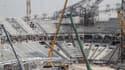 Travaux pour la construction d'un stade au Qatar