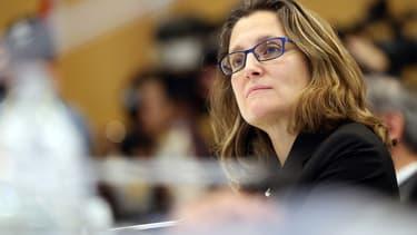 Chrystia Freeland, la ministre canadienne du Commerce, a une nouvelle fois mis la pression sur l'Union européenne.