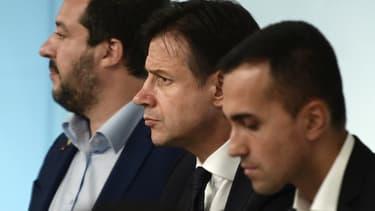 Matteo Salvini, Giuseppe Conte et Luigi di Maio.