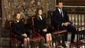 L'infante Elena, Letizia et le prince Felipe lors de la cérémonie dans la cathédrale.