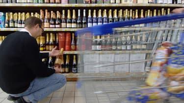 Un rayon de supermarché (photo d'illustration)