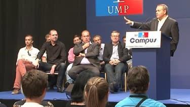 Xavier Bertrand au campus UMP du Touquet, le 7 septembre 2013.