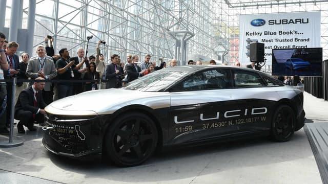 La Lucid Air est la première voiture du groupe Lucid Motors, un constructeur de voiture électrique installé en Californie.