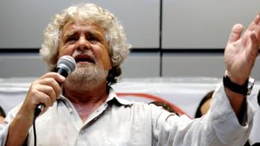 Beppe Grillo, leader du Mouvement des 5 étoiles, à Rome le 21 avril.