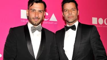 Jwan Yosef et Ricky Martin à Los Angeles en avril 2017