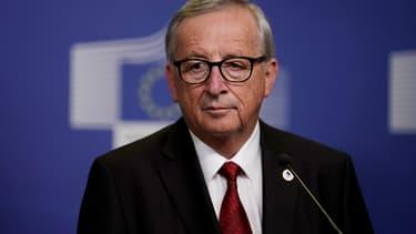 Le président de la commission européenne, Jean-Claude Juncker, à une conférence de presse le 17 octobre 2019