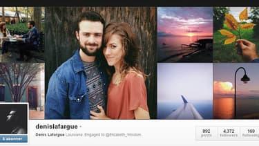 Sur leurs comptes Instagram, Elisabeth Wisdom et Denis Lafargue prenent en photo des paysages, leurs amis et leurs vacances mais aussi beaucoup leur amoureux.