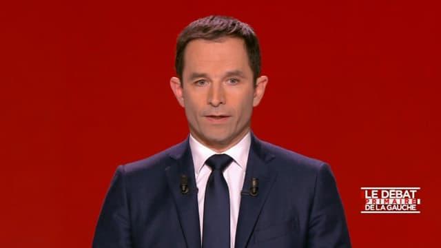 Benoît Hamon lors du débat de la primaire.