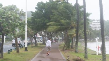 Passage du cyclone tropical Pam au sud de Nouméa, en Nouvelle-Calédonie, le 14 mars 2015. (Photo d'illustration)