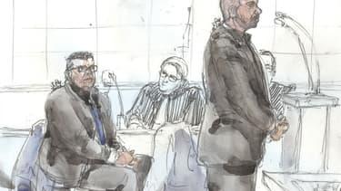 Antoine Q. et Nicolas R, lors de leur procès aux Assises de Paris le 14 janvier 2019. - Benoit PEYRUCQ - AFP