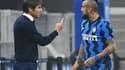 Antonio Conte et Arturo Vidal