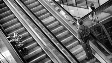 Un homme est mort étranglé par son écharpe restée coincée dans un escalator, mardi 20 mai 2014 (photo d'illustration).