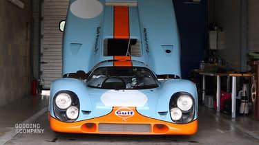 Cette Porsche 917K fut utilisée pour le tournage du film Le Mans avec Steve McQueen.