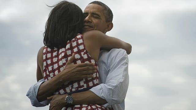 Barack Obama et sa femme Michelle / Capture d'écran du compte Twitter du président américain