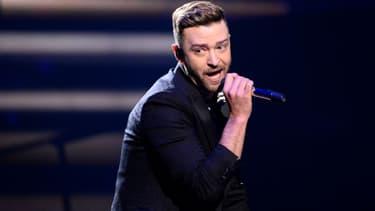 Justin Timberlake lors de l'Eurovision à Stockholm en 2016