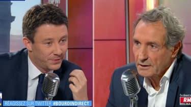 Le porte-parole du gouvernement, Benjamin Griveaux, face à Jean-Jacques Bourdin