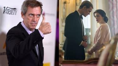 """Hugh Laurie (à gauche) pourrait reprendre le rôle de Matt Smith (à droite) dans """"The Crown"""""""