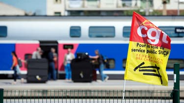 La CGT-Cheminots lance un nouvel appel à la grève. (image d'illustration)