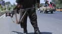 Un soldat taliban dans la ville d'Herat en Afghanistan le 14 août 2021.